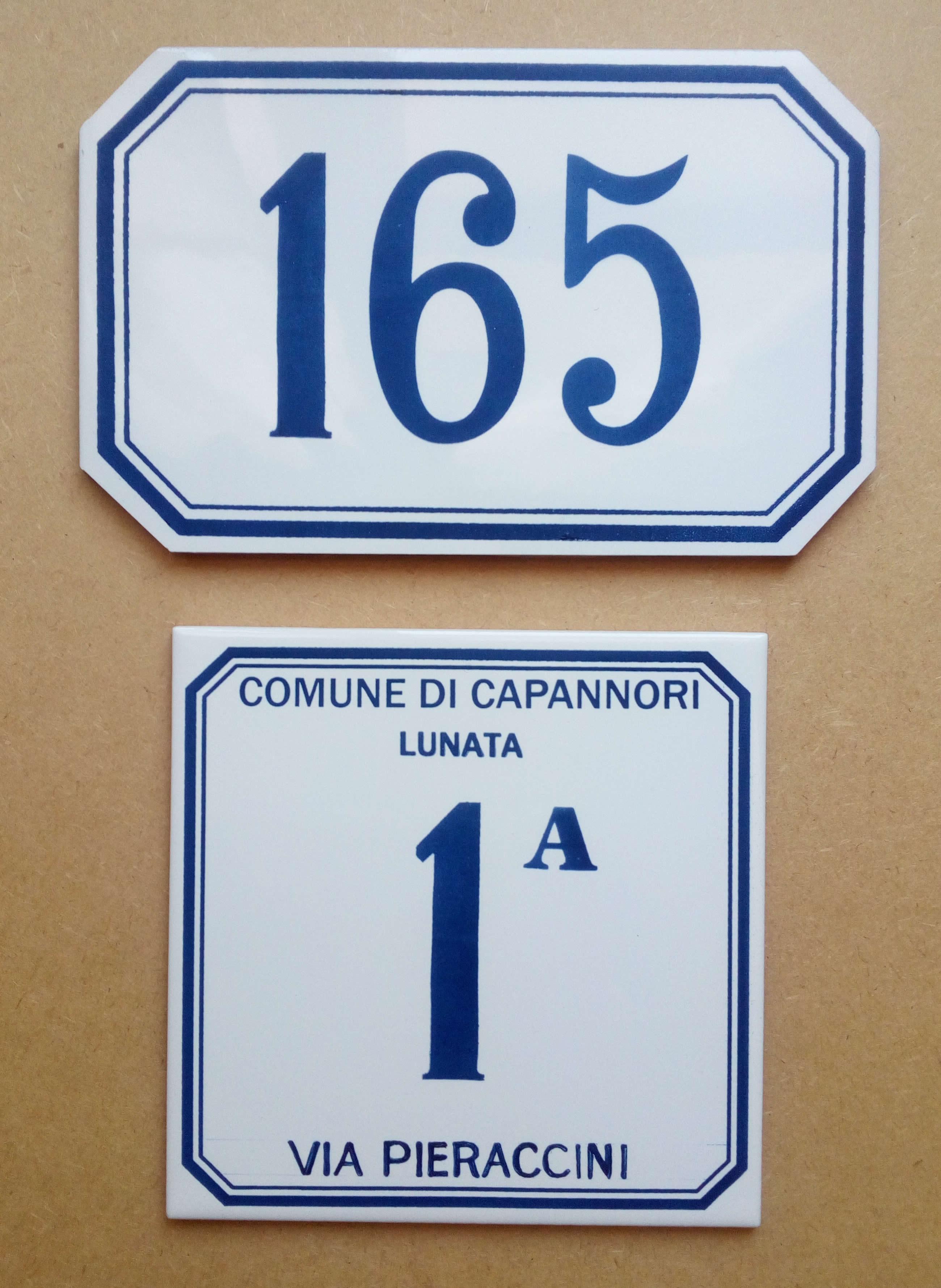 Numeri Civici In Ceramica.System Numerazione Civica Fornitura E Reintegrazione Numeri